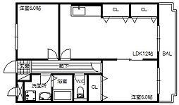 兵庫県小野市中町の賃貸マンションの間取り