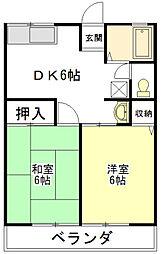 ユーメゾンA・B[1階]の間取り