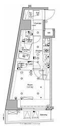 東京メトロ南北線 白金高輪駅 徒歩4分の賃貸マンション 10階1Kの間取り