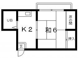 真法院ビル[3階]の間取り