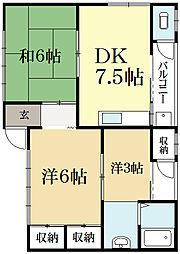 むつみ荘[2階]の間取り