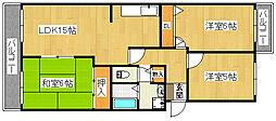 パストラルII[4階]の間取り