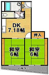 ハイツ武居[4階]の間取り