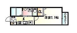 仙台市営南北線 長町南駅 徒歩9分の賃貸アパート 1階1Kの間取り