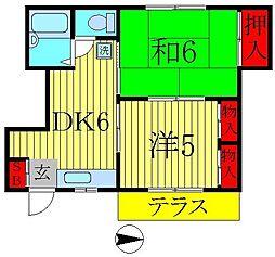 ベルハイム栄町2号棟[1階]の間取り