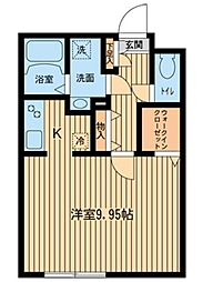ZESTY幡ヶ谷[0108号室]の間取り