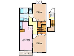エテルノ・リブラ[2階]の間取り