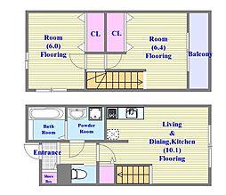 [タウンハウス] 兵庫県神戸市垂水区高丸1丁目 の賃貸【/】の間取り