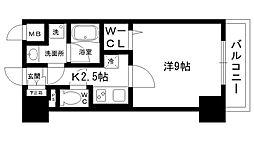 ラ・ビィNAKAZEN 1階1Kの間取り