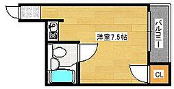 ウィン玉出西[4階]の間取り