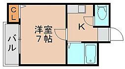 フォルム九大東[302号室]の間取り