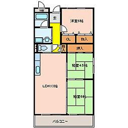 ボスクリオ[4階]の間取り