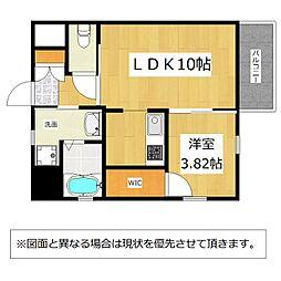 JR鹿児島本線 戸畑駅 徒歩8分の賃貸マンション 7階1LDKの間取り