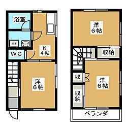 [テラスハウス] 栃木県宇都宮市上戸祭町 の賃貸【/】の間取り