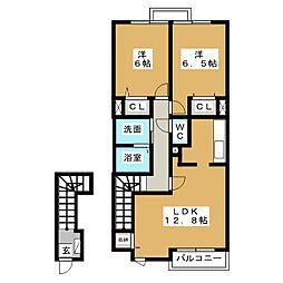 ジェルメ・メゾン2号館[2階]の間取り