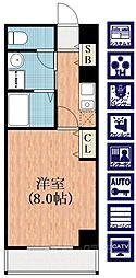 ビガーポリス118東田辺[7階]の間取り