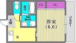 兵庫県神戸市中央区楠町1丁目の賃貸マンションの間取り