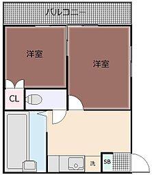 GROUVIA北軽井沢 2階2Kの間取り