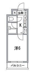 東京都品川区旗の台6丁目の賃貸マンションの間取り