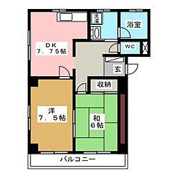 オレンジシャトー[2階]の間取り