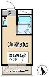 ハイツタバタ[1階]の間取り