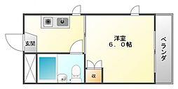 メブロ5[2階]の間取り