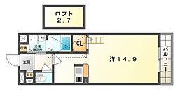 カーサ・エル・タカミヤ[2階]の間取り