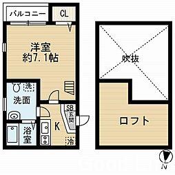 デンオー[2階]の間取り