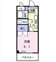 アメニティ名駅[0106号室]の間取り