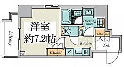東京メトロ丸ノ内線 御茶ノ水駅 徒歩9分の賃貸マンション 5階1Kの間取り
