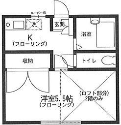 岩波ハイツ[1階]の間取り