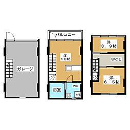[テラスハウス] 宮城県岩沼市桜3丁目 の賃貸【/】の間取り