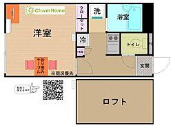 東京都町田市鶴間6丁目の賃貸アパートの間取り