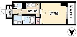 仮)道下町プロジェクト 9階1Kの間取り