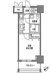 カスタリア東日本橋2[6階]の間取り