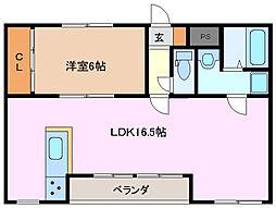 ラ・アンジュ[2階]の間取り