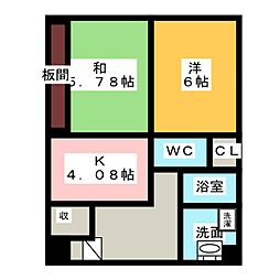 愛知県名古屋市南区明治1丁目の賃貸マンションの間取り