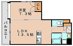 スリーセイルズ箱崎[2階]の間取り