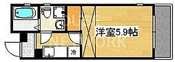 サイト京都西院[4-D号室号室]の間取り