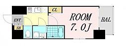 エスプレイス大阪リバーテラス 12階1Kの間取り