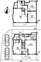 [テラスハウス] 東京都世田谷区喜多見4丁目 の賃貸【/】の間取り