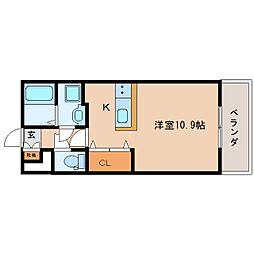 静岡県焼津市栄町の賃貸マンションの間取り