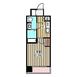 RISE STAGE MUSASHI-KOGANEI 11階1Kの間取り