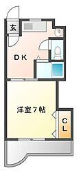 メゾン野田[10階]の間取り