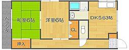 トモエハイツ2[4階]の間取り