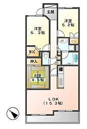 レジディア泉[11階]の間取り