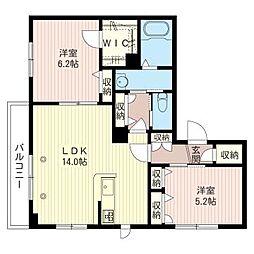 仮)大田区大森東3丁目シャーメゾン[2階]の間取り