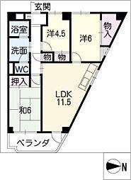 メゾン神宮[3階]の間取り