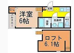 NEXTAGE堀田[2階]の間取り