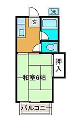 安田ハイツ[2階]の間取り